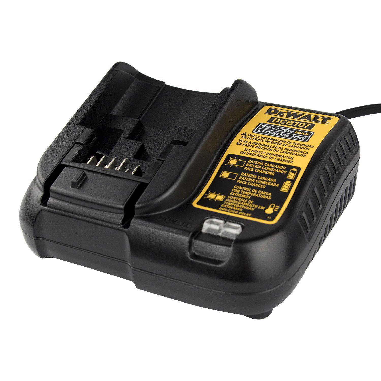 Carregador Bateria Íon de Lítio 12V / 20V 220V DCB107 DeWALT