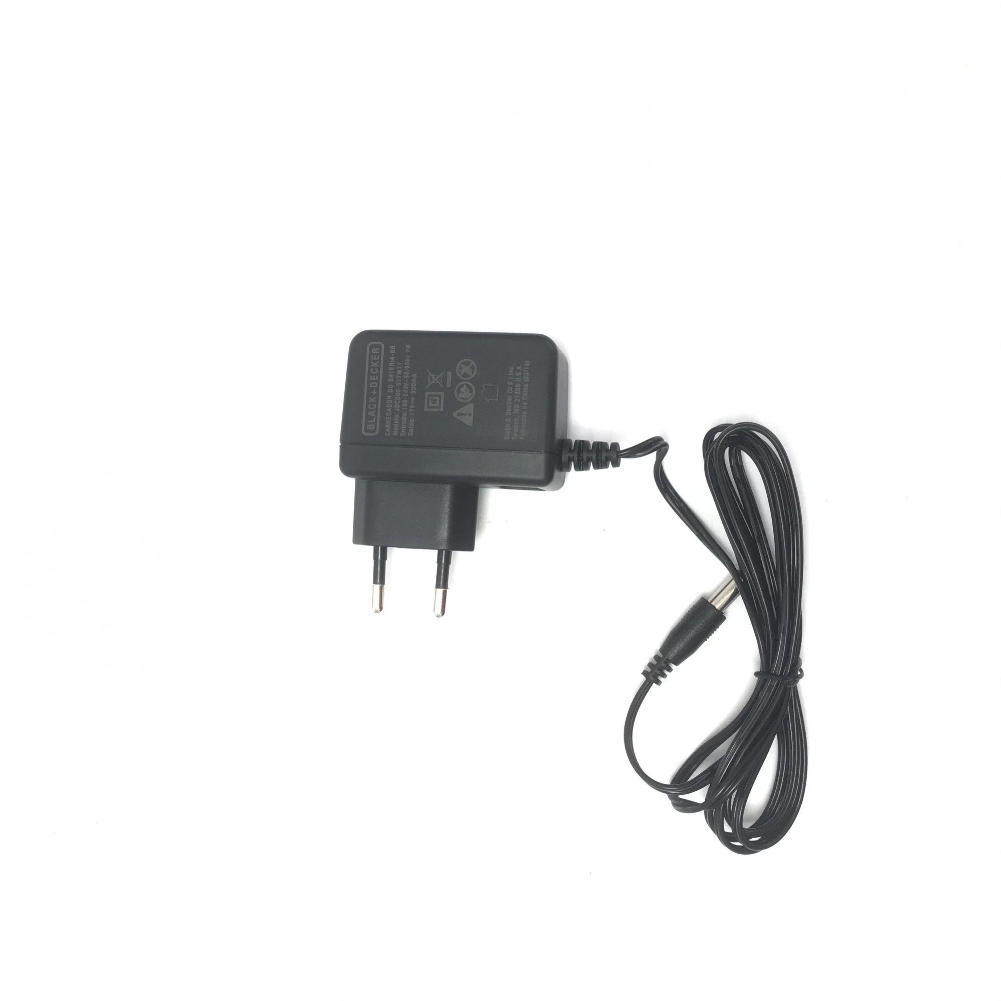 Carregador Bivolt P/ Furadeira CD121k Tipo 1,2,3 e 4 5140025-97 Black+Decker