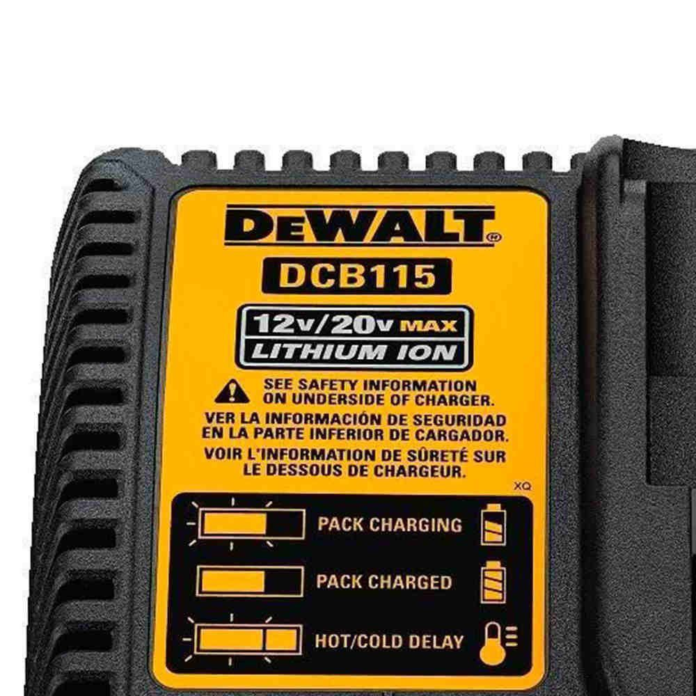 Carregador P/ Parafusadeira 12v e 20v DeWALT DCB115 220V