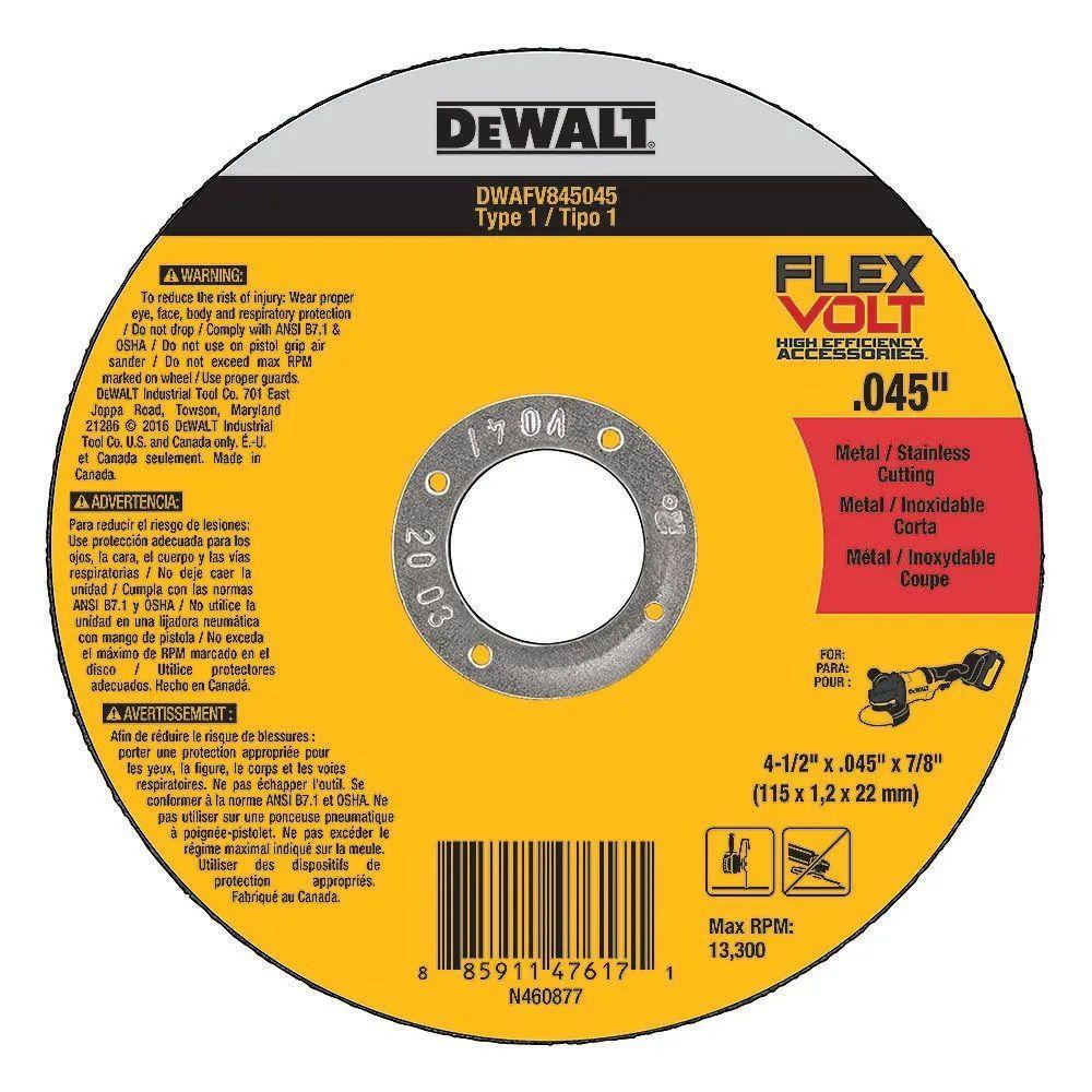 Disco de Corte Flexvolt 4.1/2 x 1,2mm x 7/8  Dewalt DWAFV845045