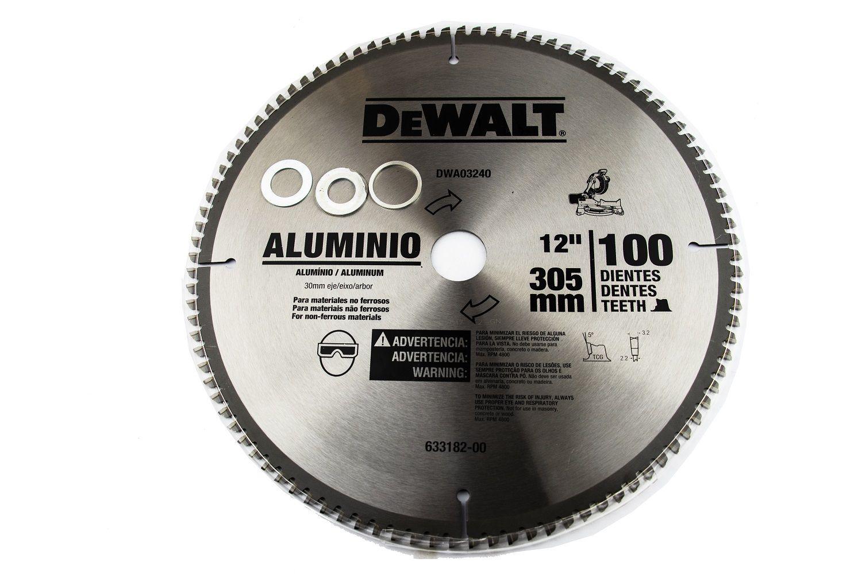 Disco De Serra  Alumínio 100 Dentes Dw03240 Dewalt