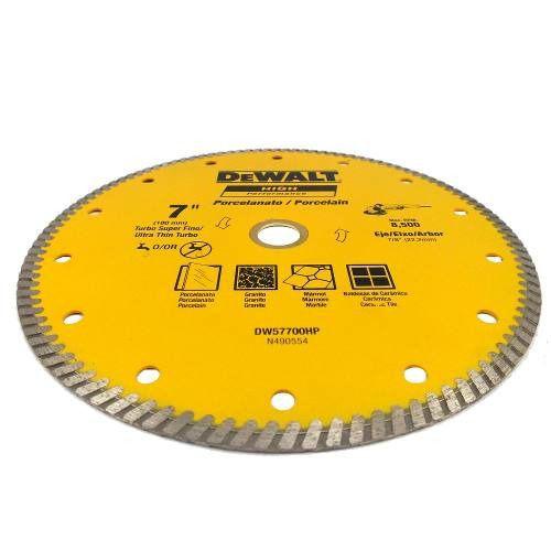 Disco Diamantado Porcelanato Ultra Fino Turbo 7? Dewalt DW57700 p/ Esmerilhadeira