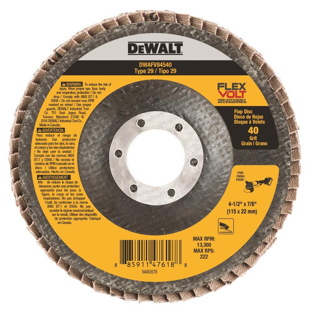 Disco Flap Flexvolt 4.1/2  G40 DWAFV84540 Dewalt