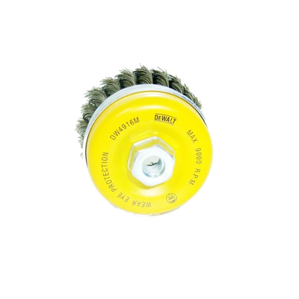 Escova de Aço DW4916M P/ Esmerilhadeira Copa Trançada  DeWALT
