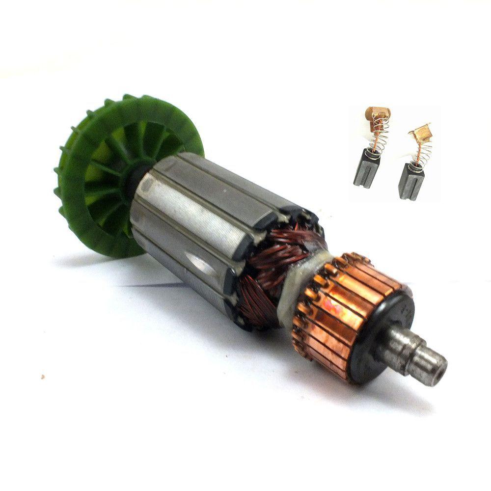 Induzido Rotor + Par de Escovas G720 110v Black Decker