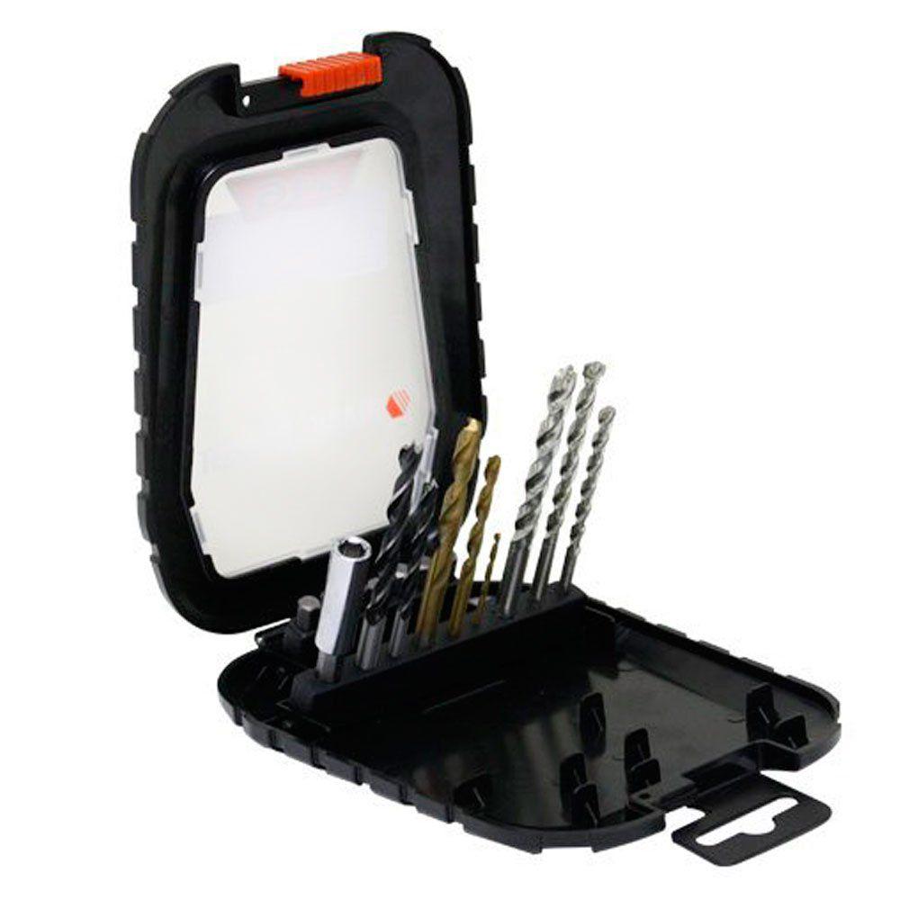 Kit de Brocas e Bits com 16 peças - Black & Decker A7186-XJ