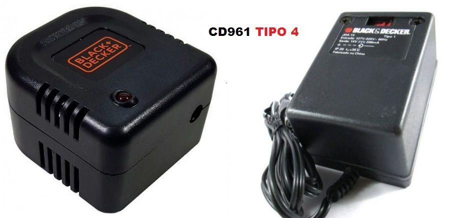 KIT Fonte Carregador + Base P/ CD961 Tipo 4 Black Decker
