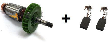 Kit Rotor 120V + Par de Carvão p/ Esmeri G720 Tipo 4 Black e Decker 5140003-62 e 5140122-04