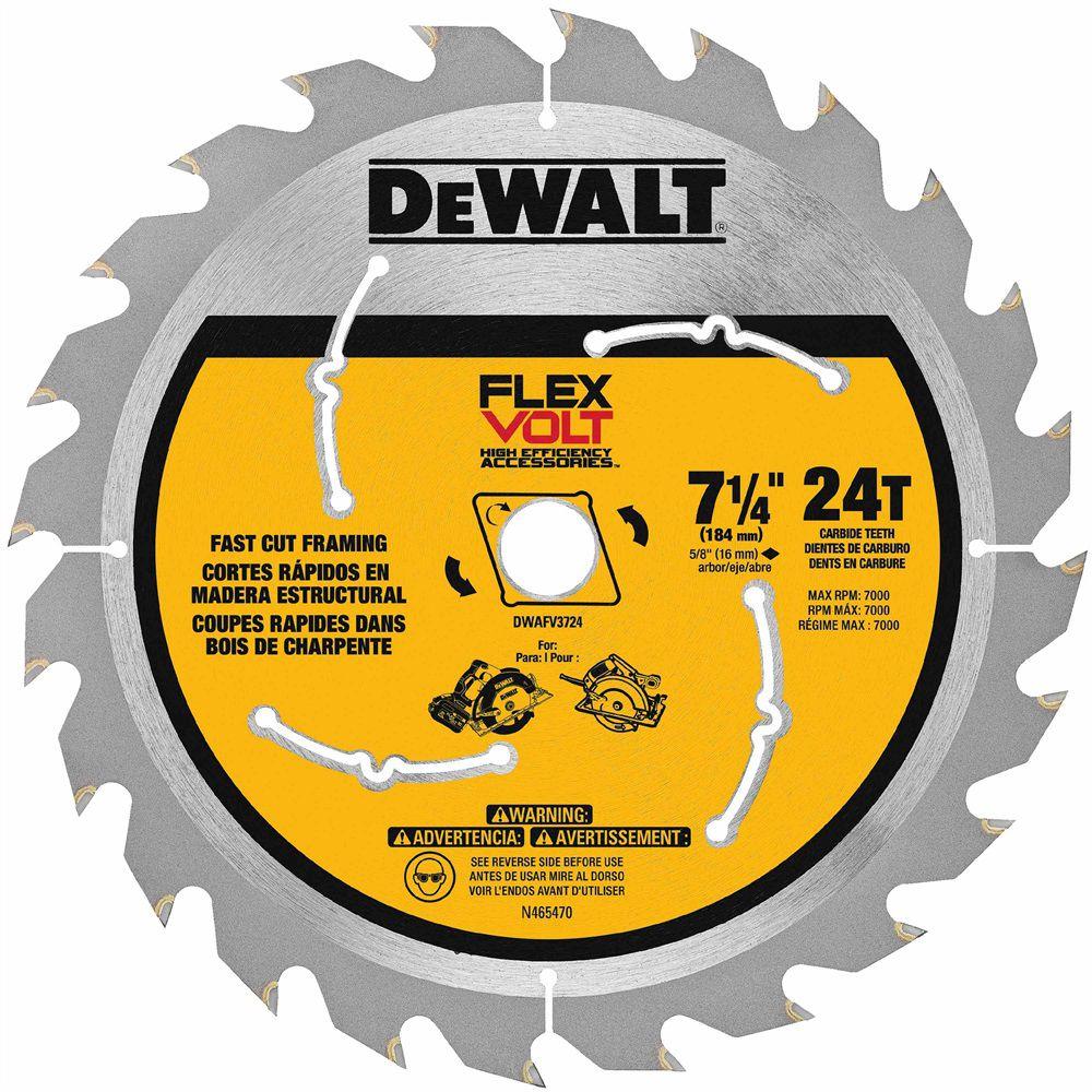 "Lâmina / Disco para Serra Circular Dewalt Flexvolt 7.1/4"" 24D - DWAFV3724"
