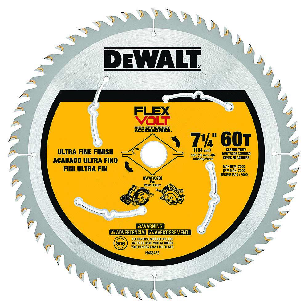 "Lâmina / Disco para Serra Circular Dewalt Flexvolt 7.1/4"" 60D - DWAFV3760"