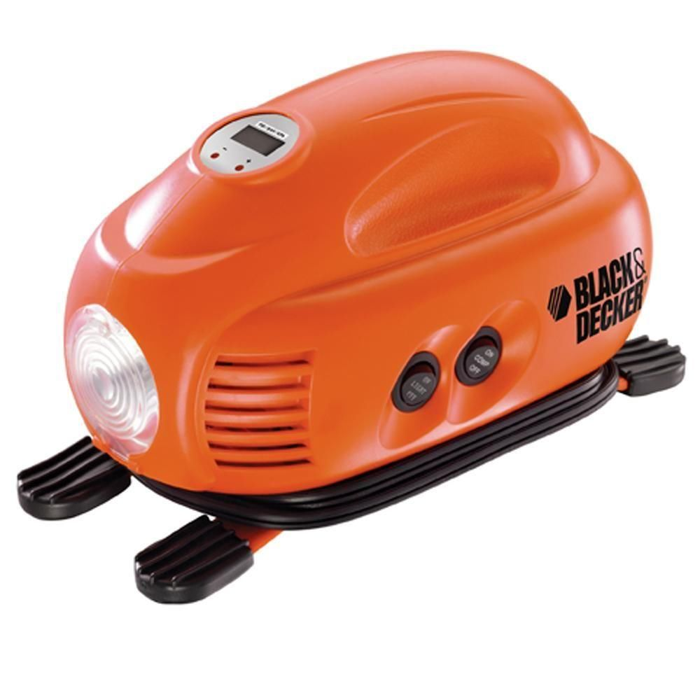 Mini Compressor C/ Luz De Emergência 12v Black+Decker ASI200-LA