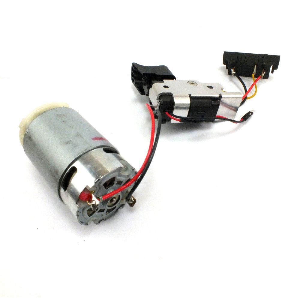 Motor e Interruptor DeWALT para Parafusadeira/Furadeira DCD700-B2 - Tipo4 Código: N382748