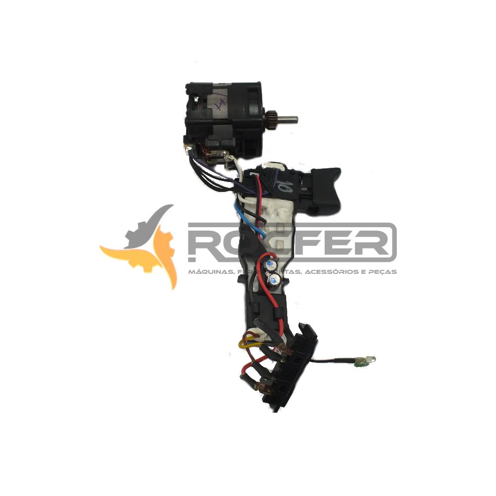 Motor e Interruptor p/ Parafusadeira DCD790 e DCD795 Dewalt N256441