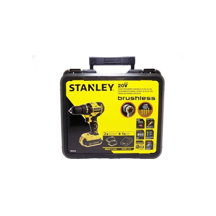 Parafusadeira Furadeira Brushless 20V c/ 2 Baterias 1.5Ah Stanley SBD20S2K-BR