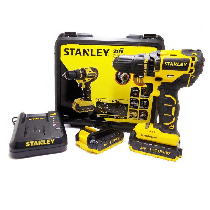 Parafusadeira Furadeira Brushless 20V Stanley SBI20S 2K  C/ 2 Baterias 220V ou 127V