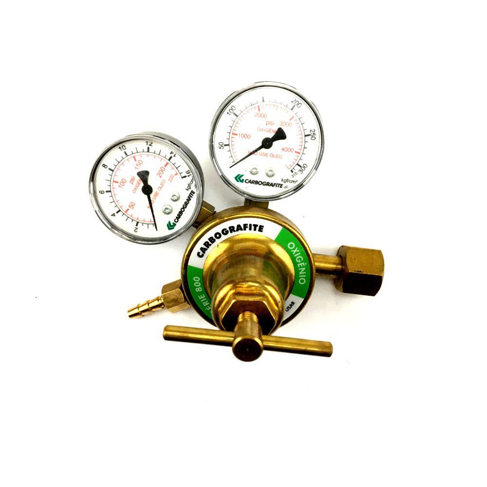 Regulador de Oxigênio Série 800 Carbografite 010453010