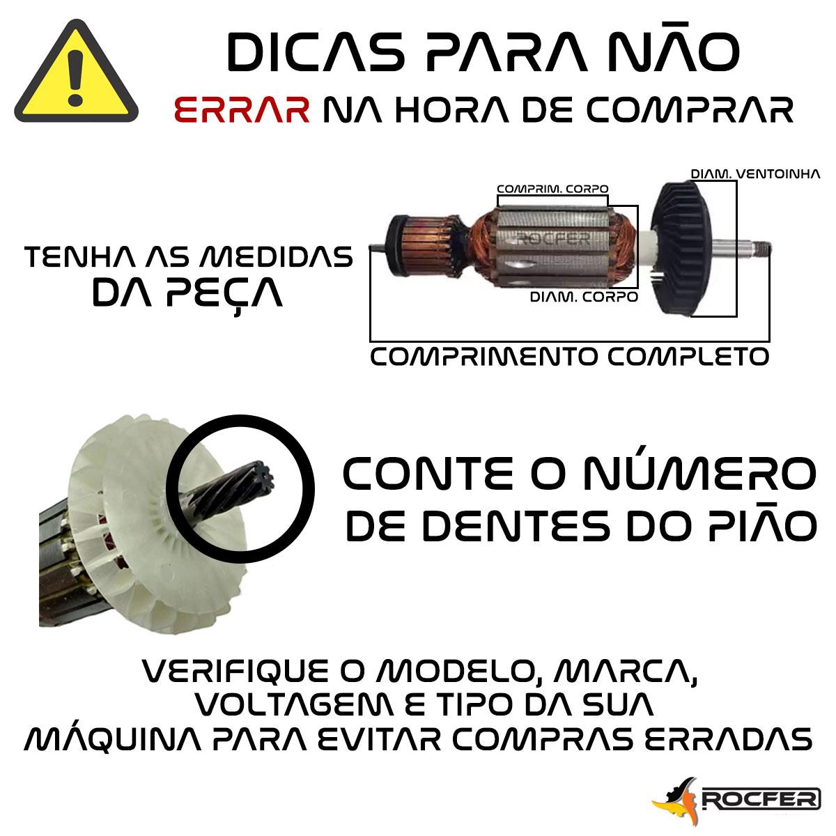 Rotor 220V p/ Esmerilhadeira DWE4120 Dewalt N095275