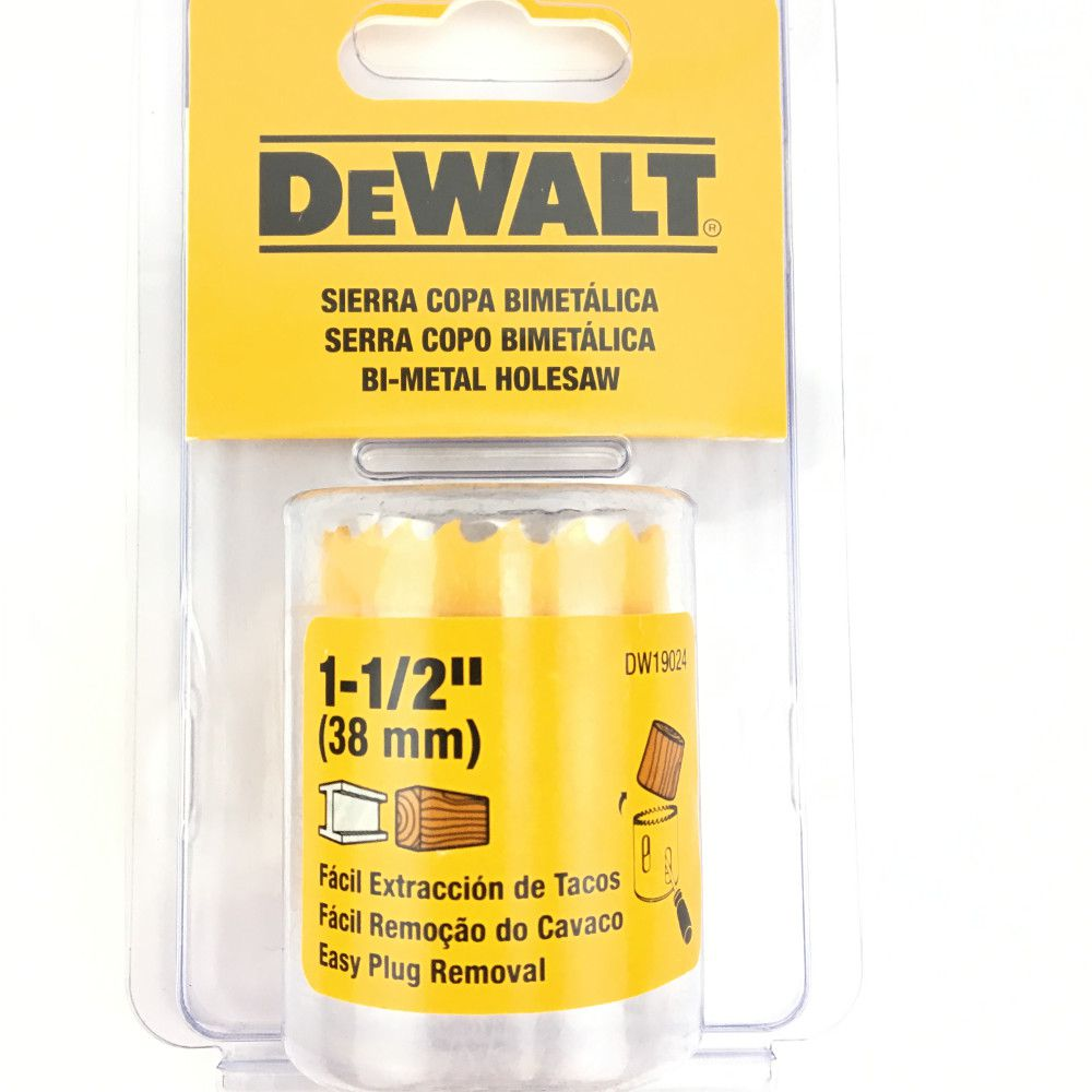 "Serra Copo Dewalt 1.1/2"" 38mm DW19024"
