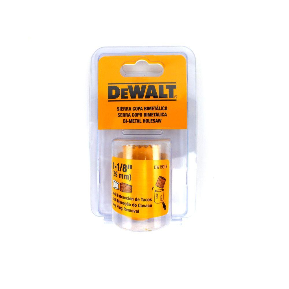 "Serra Copo Dewalt 1.1/8"" 29mm DW19018"