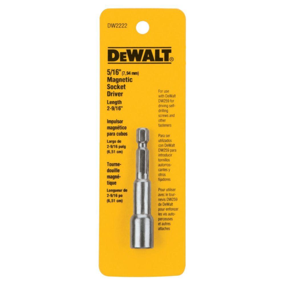 """Soquete Magnético 5/16"""" DW2222 DeWALT"""
