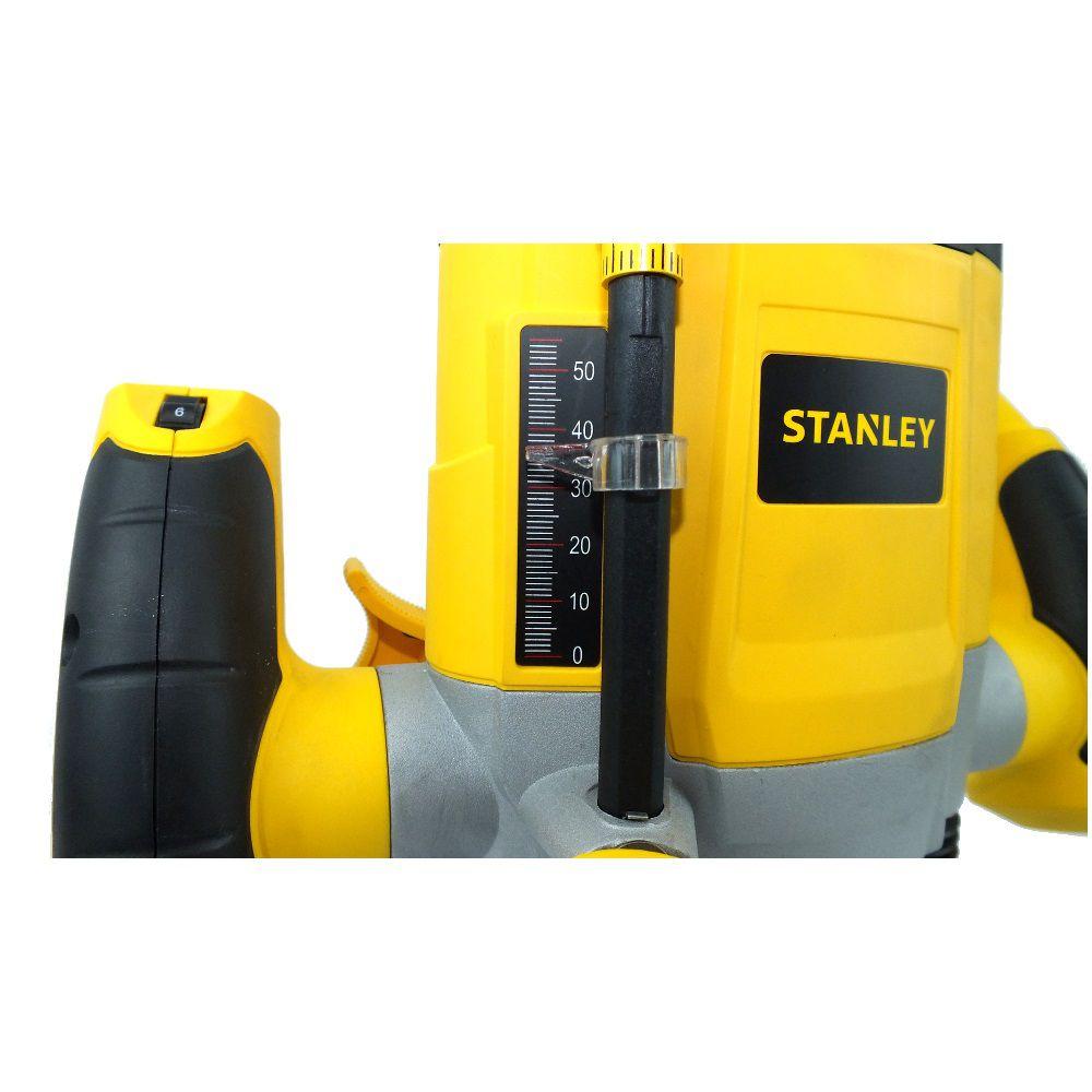 Tupia Elétrica de Coluna C/ 6 Fresas SRR1200 220V 1.200W Stanley