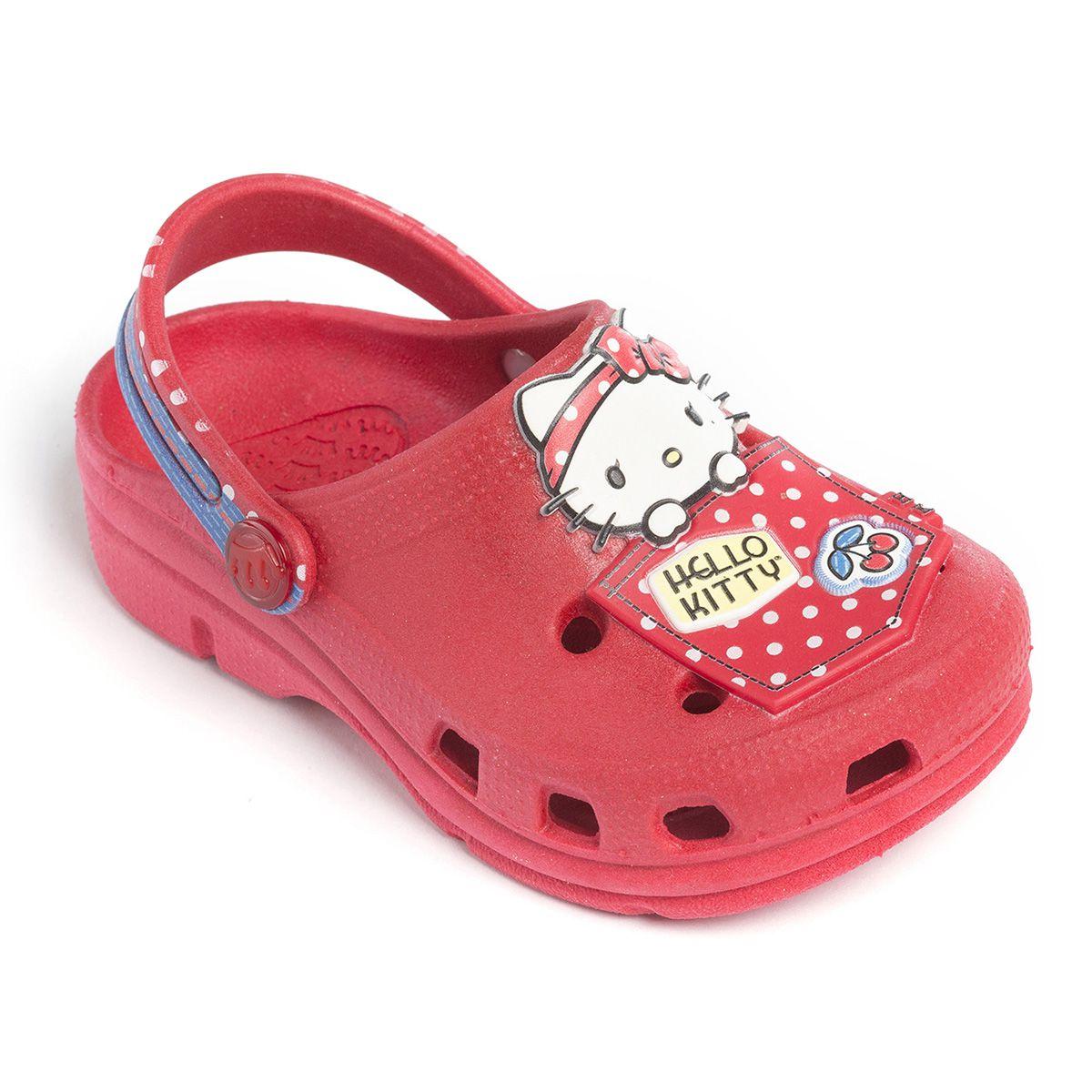 Babuche Baby Hello Kitty Vermelho