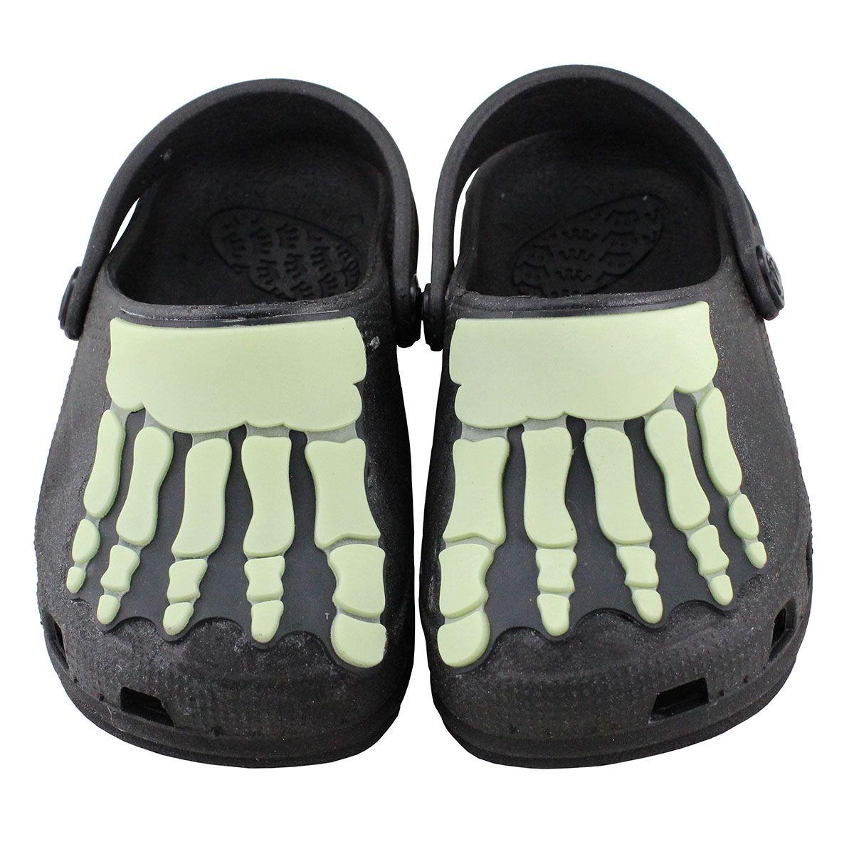 Babuche Kids Neon Esqueleto Infantil