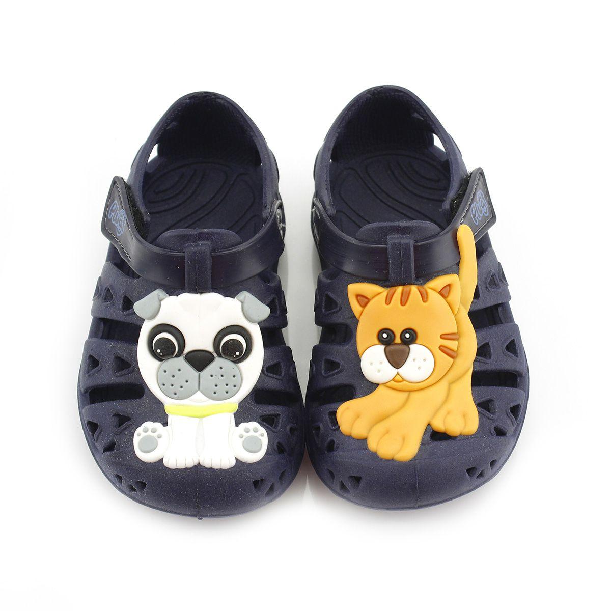 Babuche Plugt Gato e Cachorro Marinho V