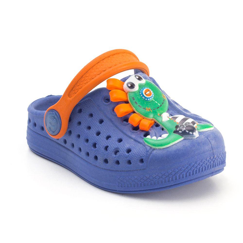 Babuche Plugt Joy Dino 3D Azul