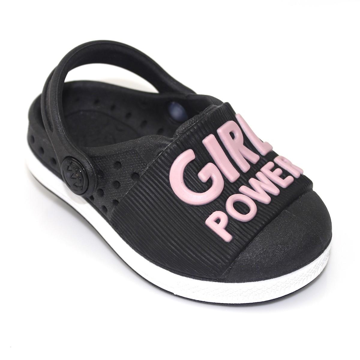 Babuche Plugt Joy Girl Power Infantil Preto