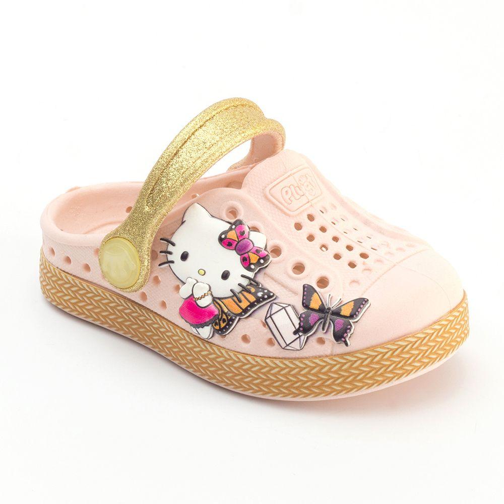 Babuche Plugt Joy Hello Kitty Patches Infantil
