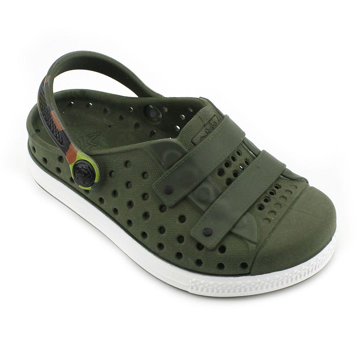 Babuche Plugt Joy Kids Camuflado Verde