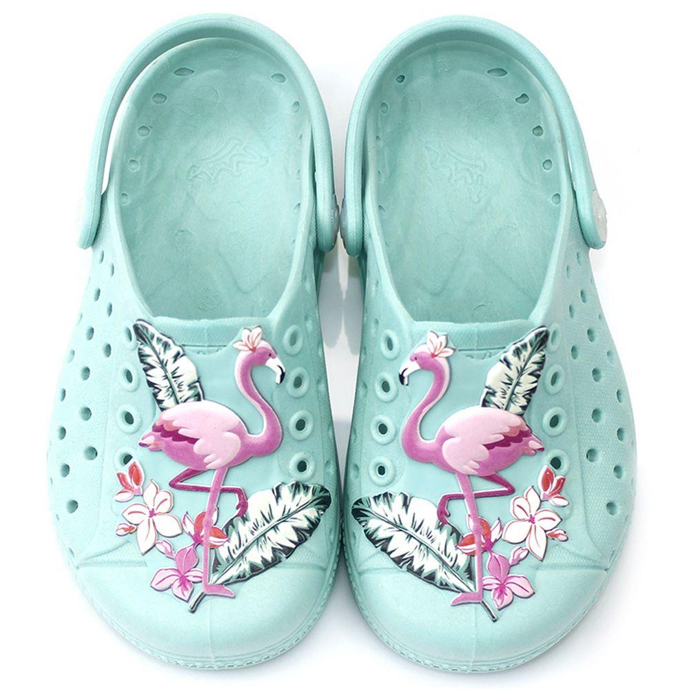 Babuche Plugt Joy Flamingo Azul