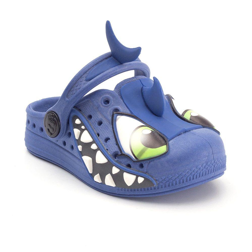 Babuche Plugt Joy Tubarão Azul