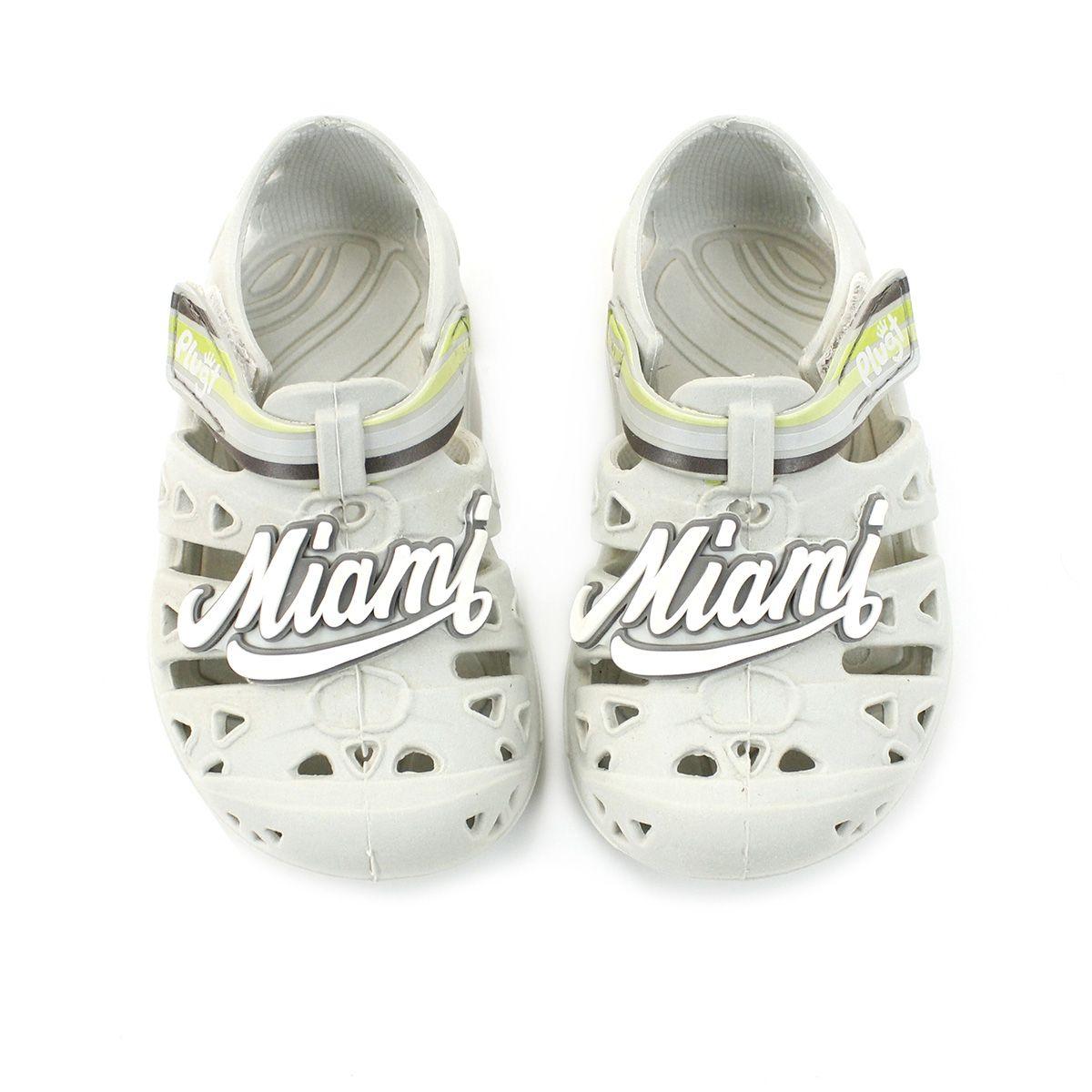 Babuche Plugt Miami Cinza V