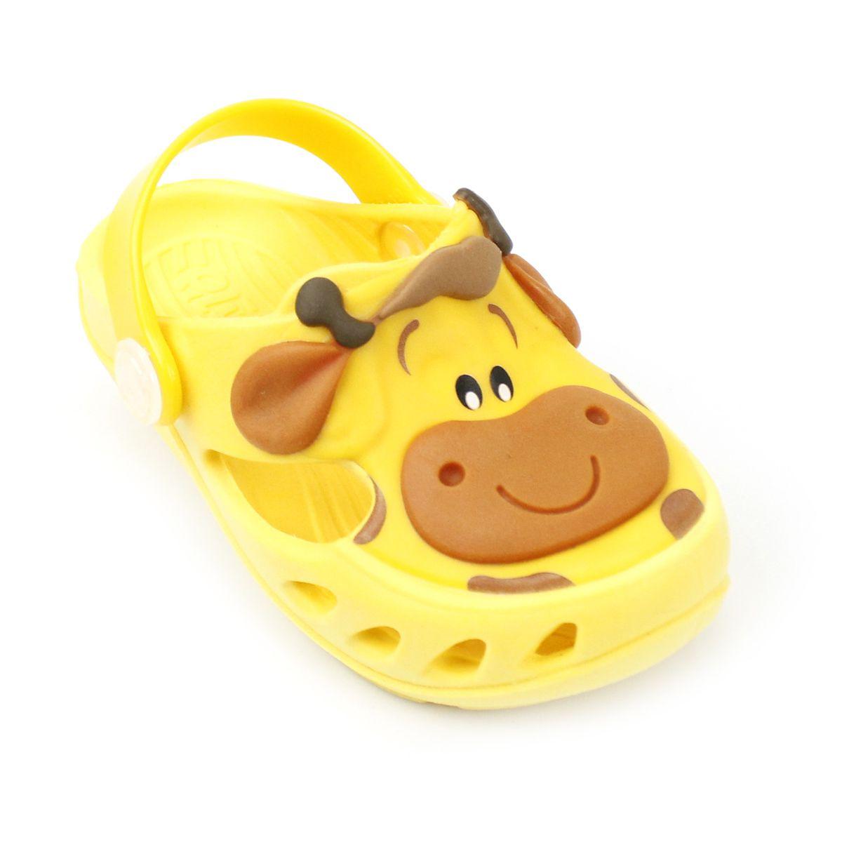 Babuche Plugt Mocs Bichinho Girafa Amarelo
