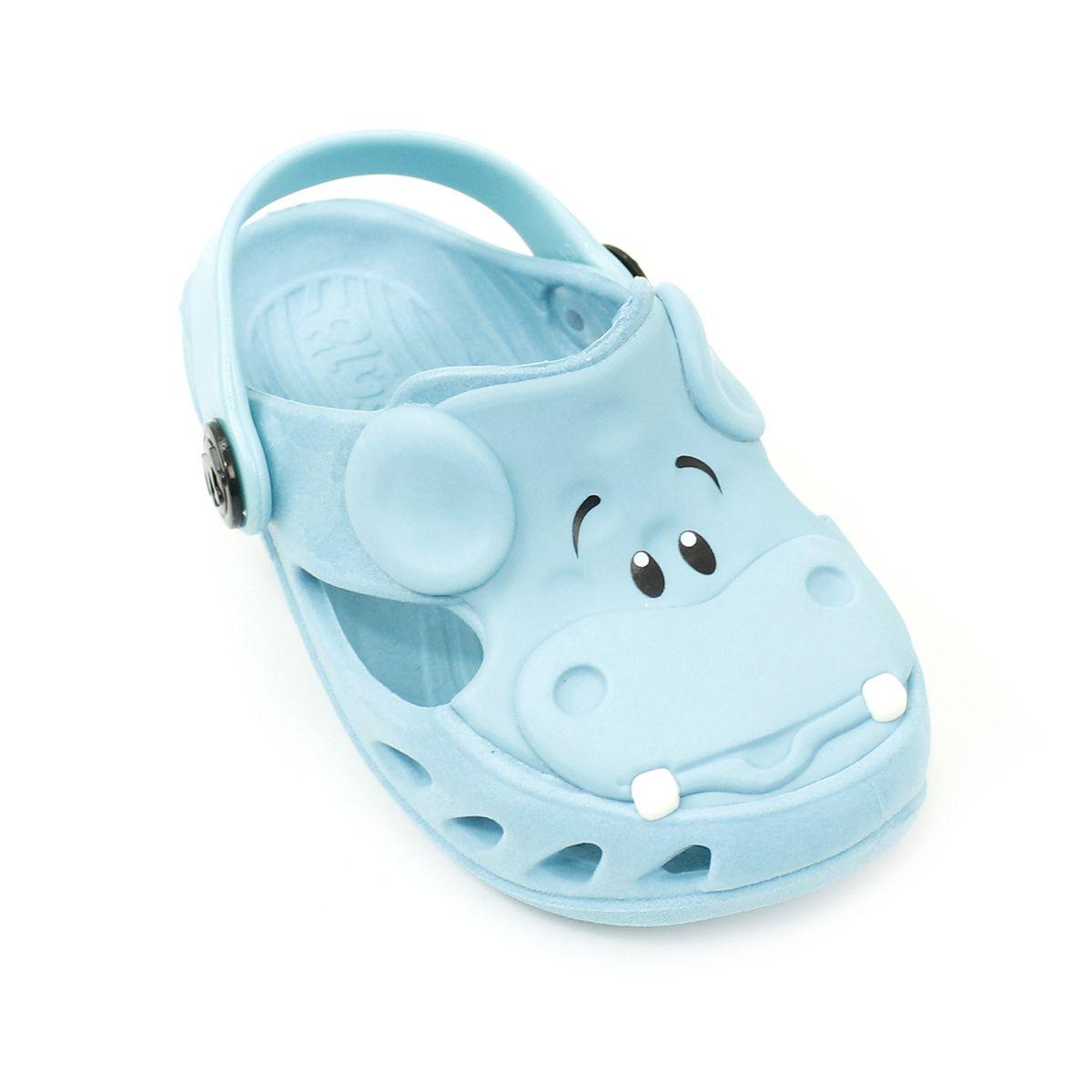 Babuche Plugt Mocs Bichinho Hipopótamo Azul