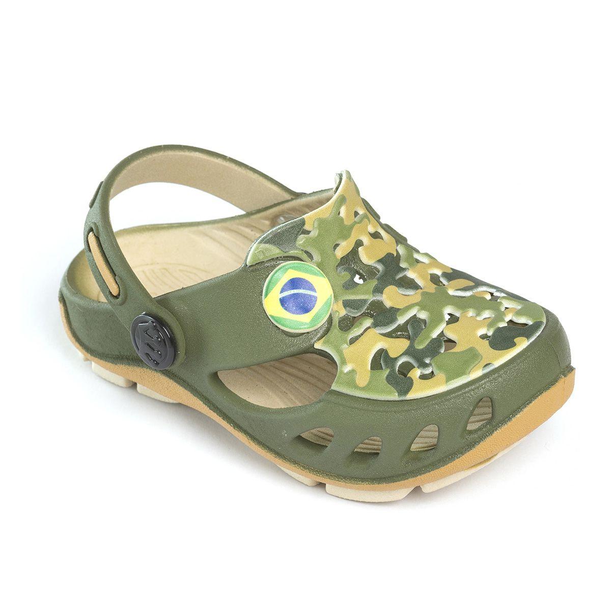 Babuche Plugt Mocs Militar Camuflado Verde
