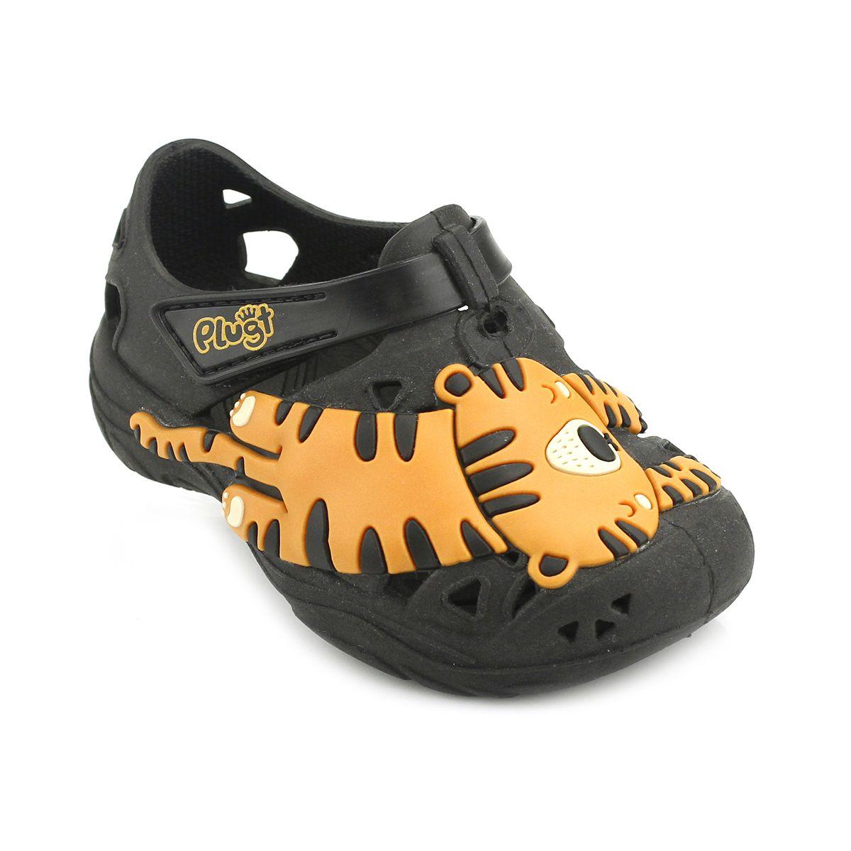 Babuche Plugt Tigre Preto V