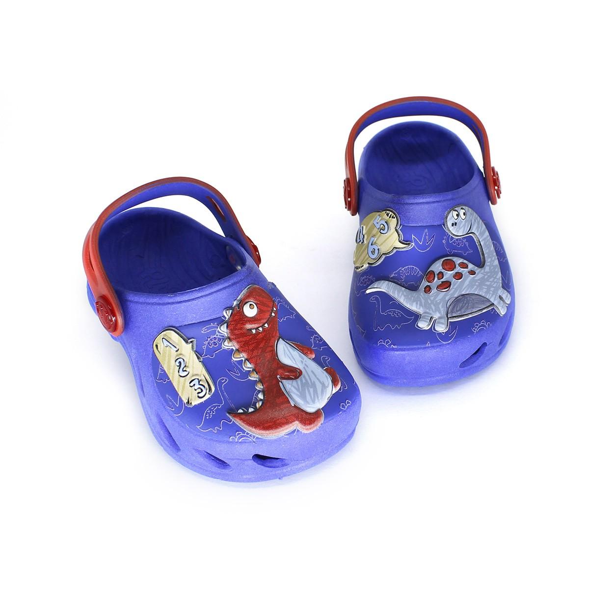Babuche Plugt Ventor Baby Dino 123 Azul