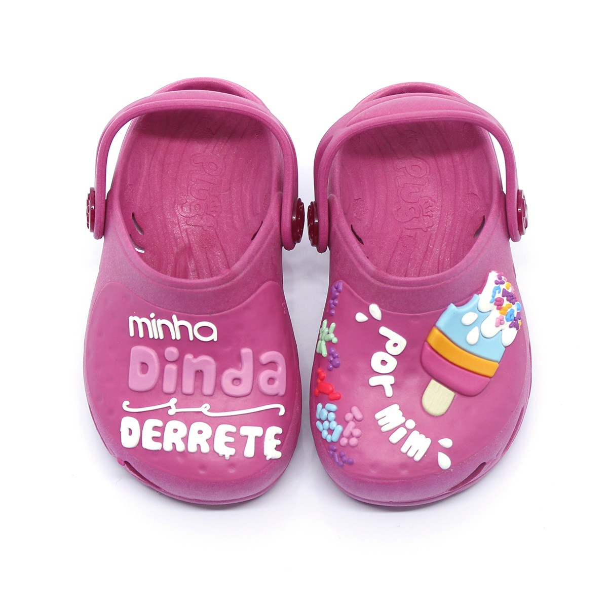 Babuche Plugt Ventor Baby Madrinha Dinda Pink