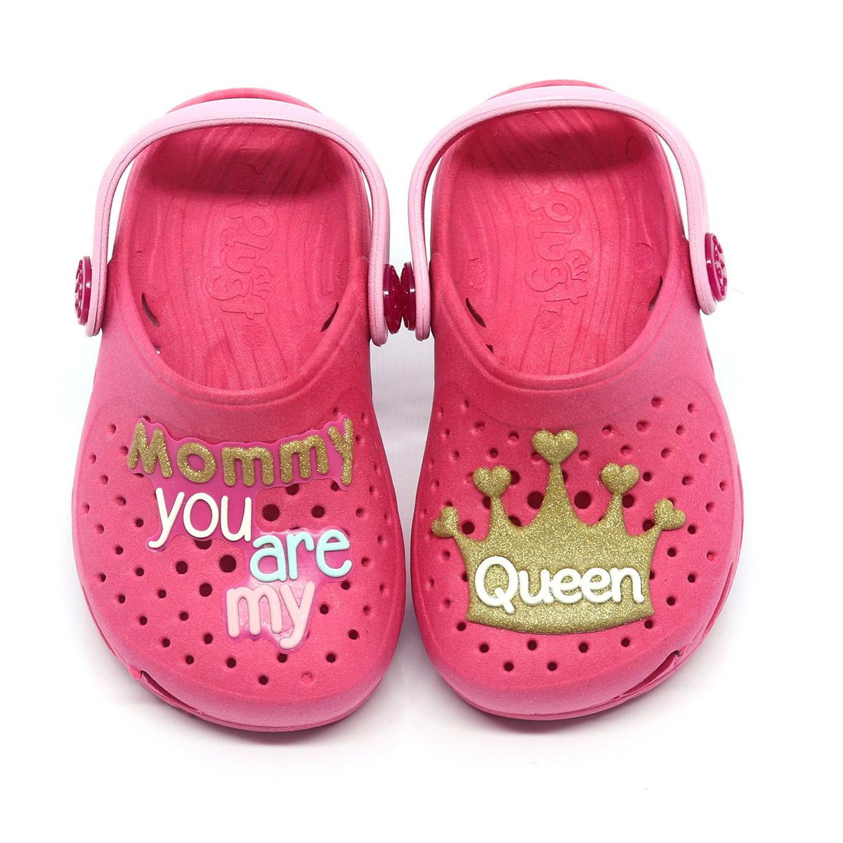 Babuche Plugt Ventor Baby Mamãe Rainha Pink