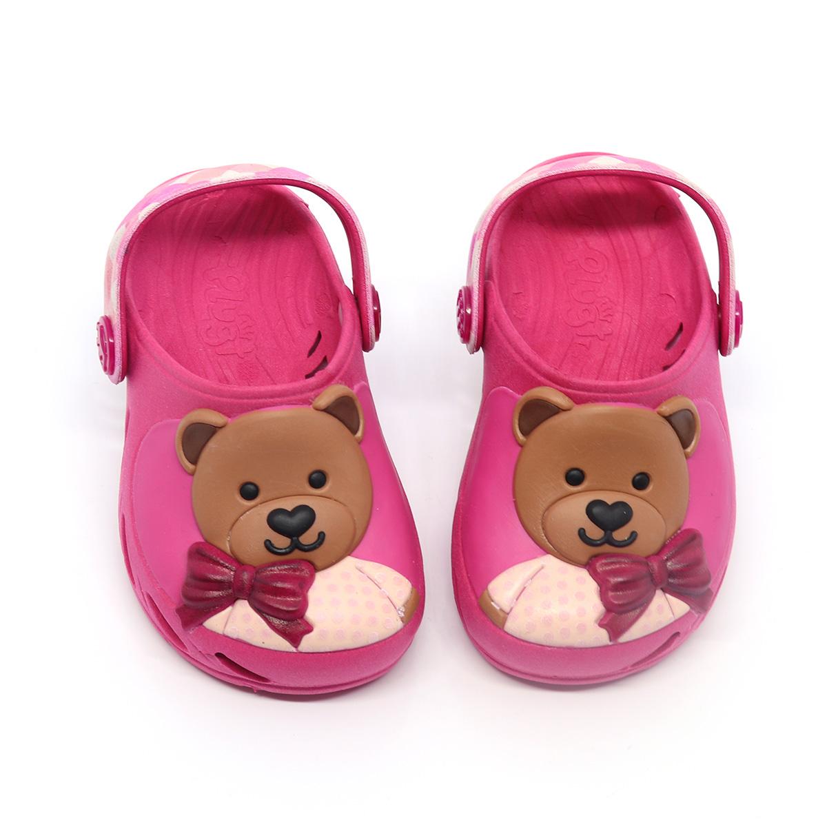 Babuche Plugt Ventor Baby Ursinho Pink