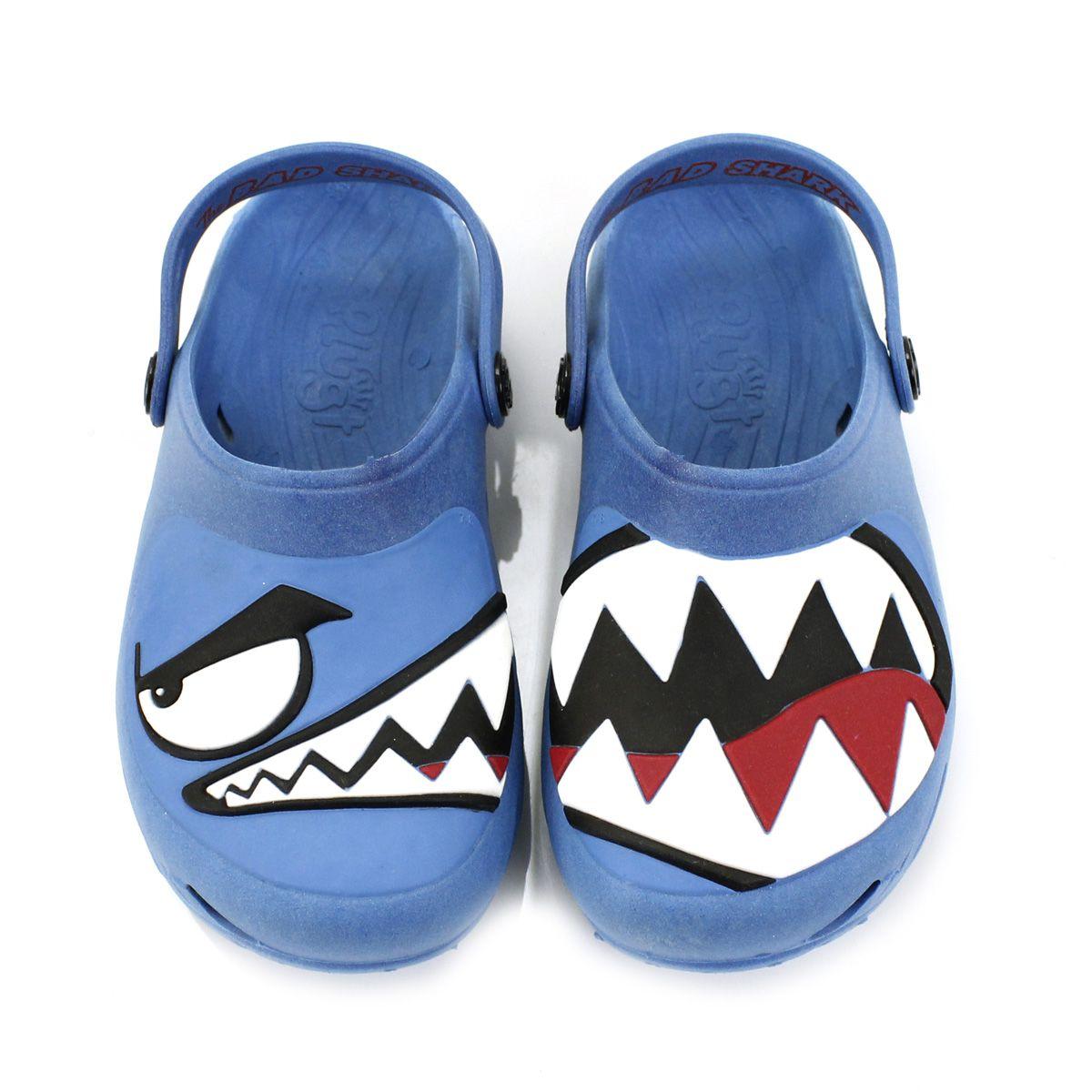 Babuche Plugt Ventor Tubarão Azul