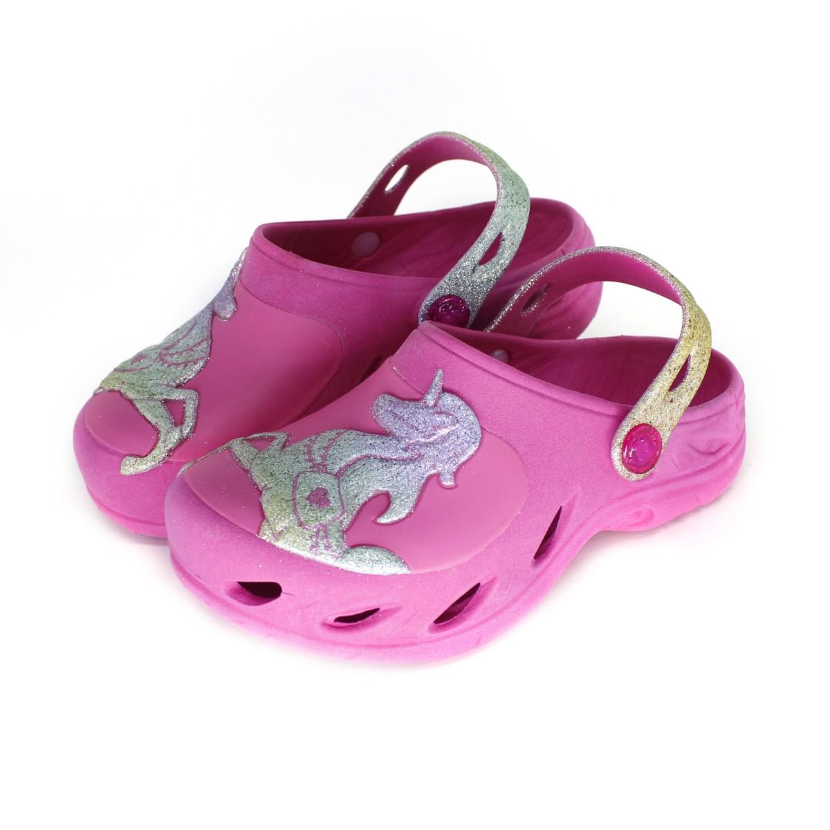 Babuche Plugt Ventor Kids Unicórnio Gliter Pink