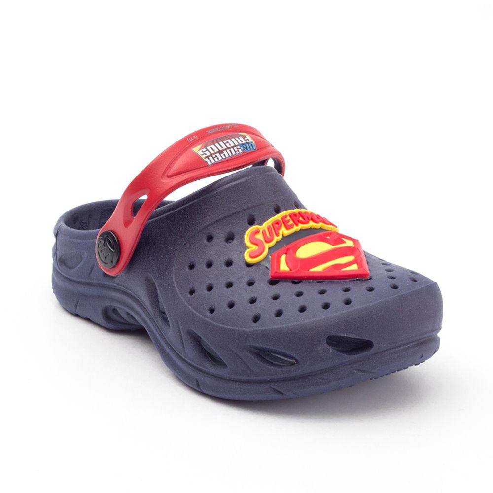 Babuche Plugt Ventor Superman Infantil Marinho