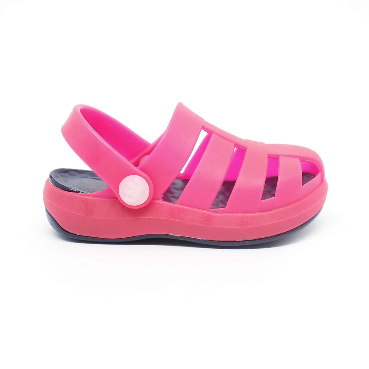 Babuche Sandália Plugt Pop Kids Marinho/Pink