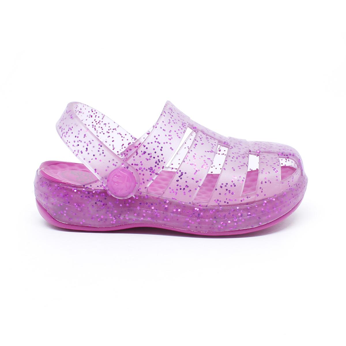 Babuche Sandália Plugt Pop Kids Pink Gliter