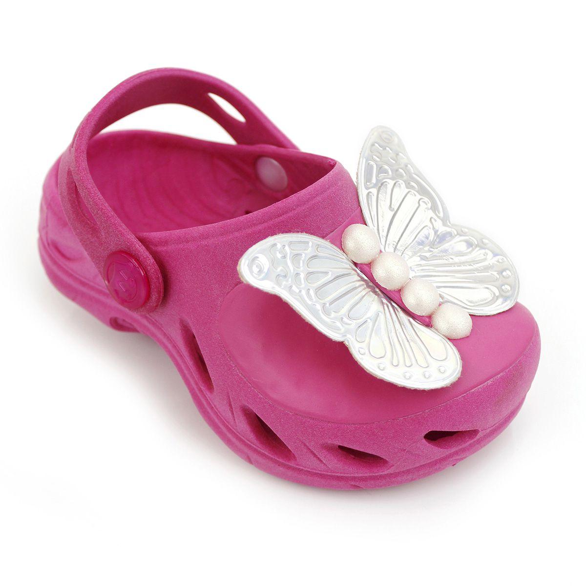 Babuche Ventor Baby Borboleta Pink