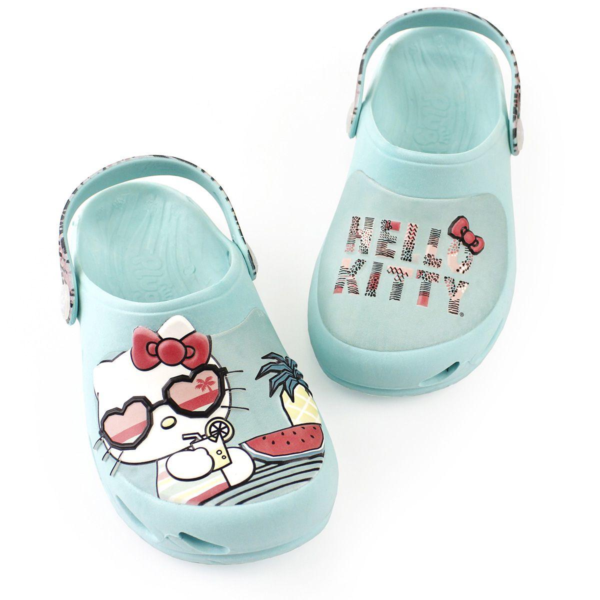Babuche Ventor Baby Hello Kitty Azul